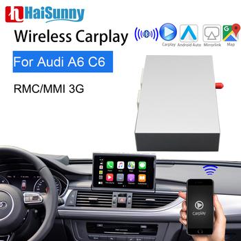 Bezprzewodowy moduł Carplay dla Audi A6 C6 C7 MMI RMC 2012-18 wsparcie nawigacja GPS Siri głos kamera cofania Android Auto dla Audi tanie i dobre opinie HaiSunny CN (pochodzenie) podwójne złącze DIN 6 5 256G Windows ce DVD-R RW DVD-RAM VIDEO CD JPEG Aluminum 1024*600 bluetooth