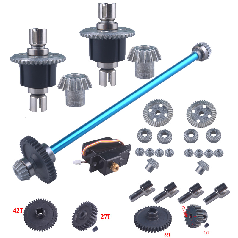 WLtoys A959 Upgrade Parts Aluminum Metal For 1/18 Electric  Remote Control RC Car Fit A969 A979 K929 Differential Gear Shock