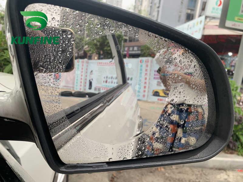 2 pièces voiture rétroviseur Film de protection voiture miroir fenêtre Film clair Anti-éblouissement étanche à la pluie Anti-buée voiture autocollant