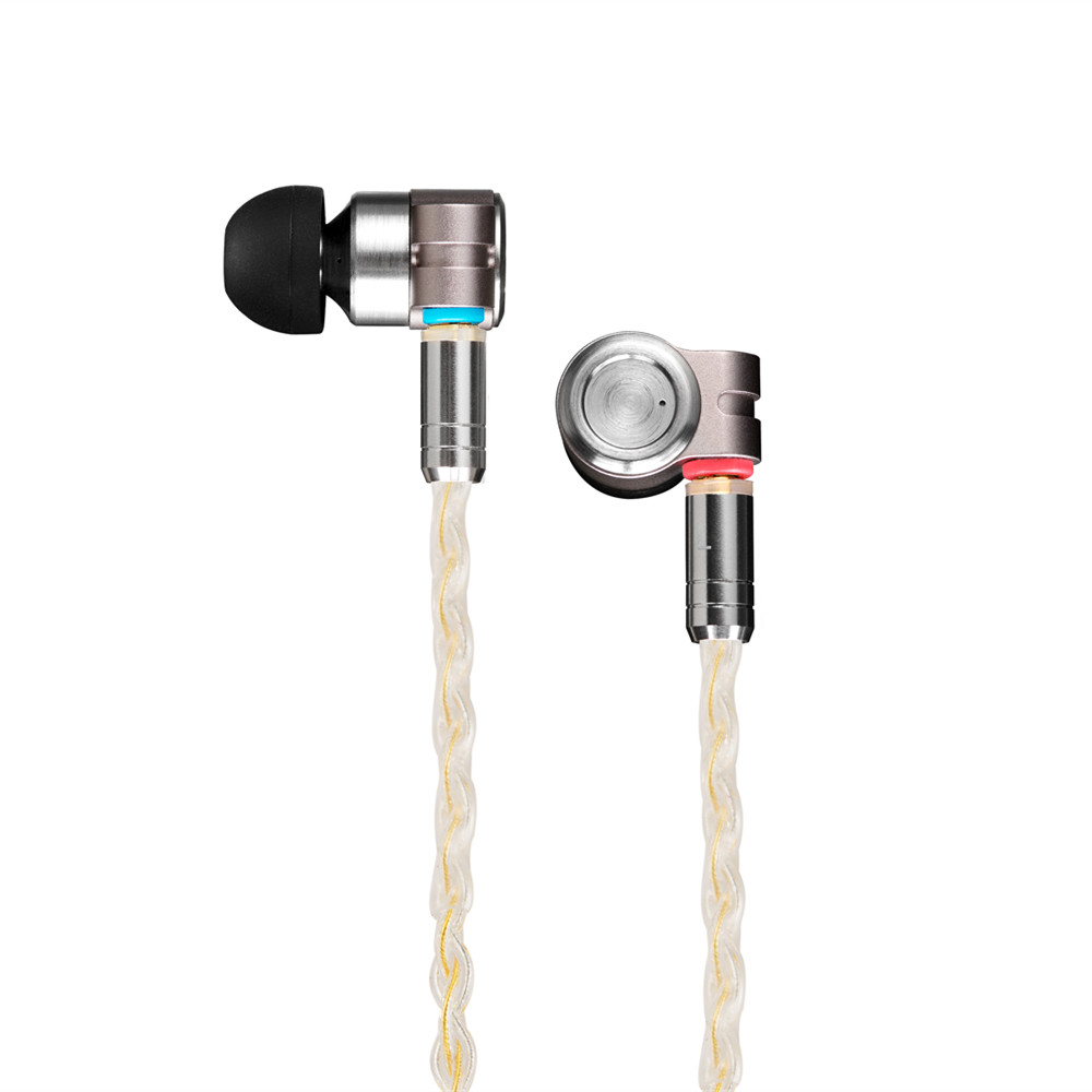 TinHIFI T3 1BA+1DD HIFI Hybrid Driver In Ear Earphone IEM Monitor Earphone Earbud with Gold-plated OFC SPC MMCX Cable T4 P1 T2 1