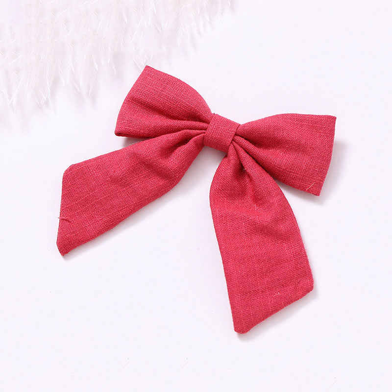 2019 Kids Hair Accessories Velvet/Linen Hair Bow For Girls Solid Knot Hair Clips Baby Girls Hairpins Handmade Barrettes Headwear