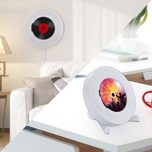 Image 4 - Qosea taşınabilir duvara monte Bluetooth CD çalar USB sürücüsü LED ekran HiFi hoparlör ses uzaktan kumanda ile FM radyo dahili