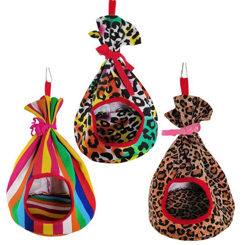 Милый холст круглый гамак для птицы гнездо для попугая птичий домик спальное гнездо карманное гнездо хлопковое гнездо игрушки для
