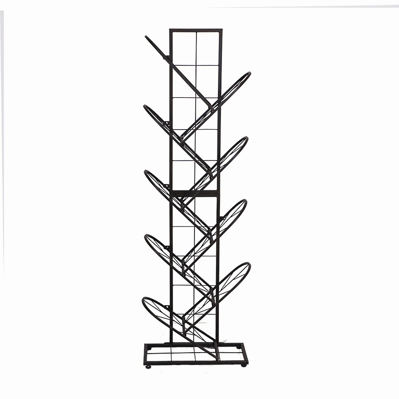 Nordic Iron Tree Bookcase Landi Simple Ng Bedroom Bedside Study Newspaper Storage Shelves Students Bookcase