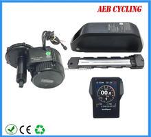 цена на EU US RU free tax 8fun Bafang BBS02B mid drive 48V 750W e-bike motor kits with 52V 48V 20Ah 21Ah Li-ion down tube ebike battery