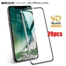 20 Cái/lốc Đầy Đủ Bao Da Bảo Vệ Màn Hình Trong Cho iPhone 11 12 Pro Max 9D Có Kính Cường Lực Dành Cho iPhone X XS max XR 6 7 8 Plus