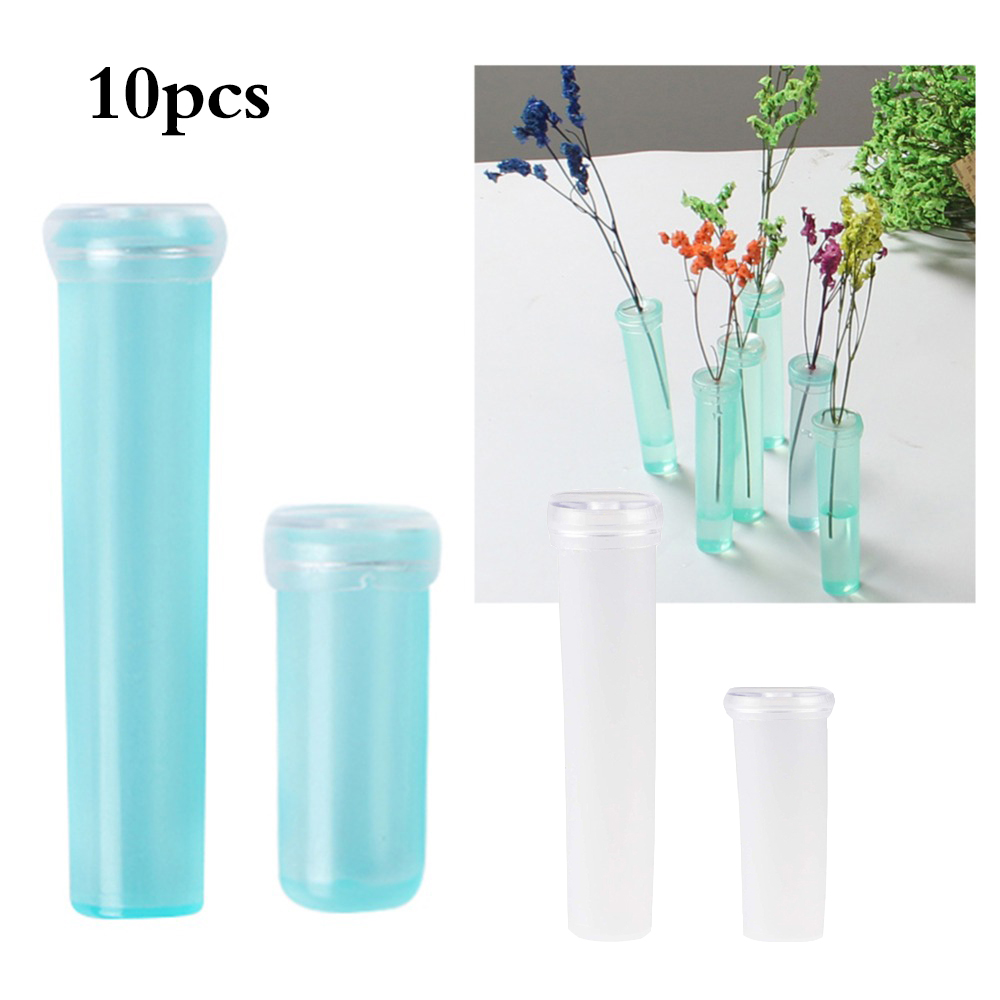 10pcs Flower Nutrition Tube Plastic With Cap Keep Fresh Hydroponic Container Floral Water Tube Hydroponic Container For Flower