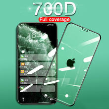 700D Full Cover Tempered Glass For iPhone 11 Pro Max Screen Protector On 6 7 8 Plus soft edge For iPhone X XS XR Protective Film(China)