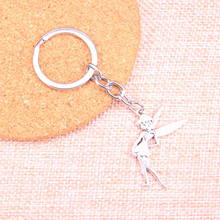 20pcs 36*27mm fairy tinkerbell Pendants DIY Men Car Key Chain Ring Holder Keyring Souvenir Jewelry Gift