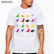 Colorful dragons cats birds dolphins animal print t-shirt men funny t shirts camisetas hombre harajuku shirt gothic tshirt tops цена и фото