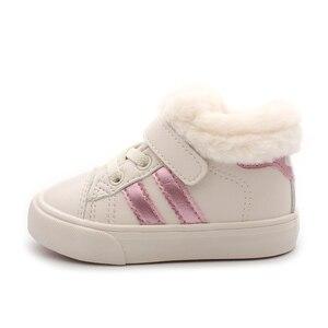 Image 4 - أحذية الأطفال أحذية الثلوج للأطفال 1 3 سنوات من العمر أحذية الفتيات المخملية 2020 أحذية جديدة للأطفال الأولاد أحذية الشتاء أحذية المشي الأولى للأطفال