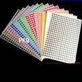 12 листов/упаковка разноцветные Круглые цветные наклейки с кодовым покрытием 6 мм/8 мм/10 мм/13 мм/16 мм/19 мм/25 мм/32 мм/50 мм/100 мм