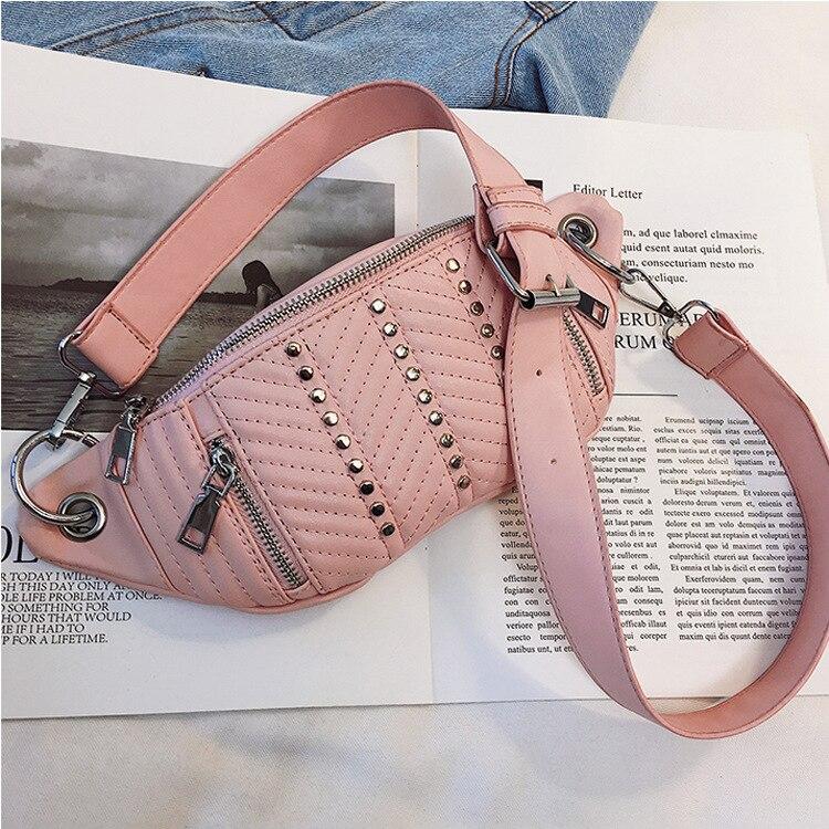 Waist Bags Women Pink Beige Fanny Pack Female Belt Bag Black Waist Packs Chest Phone Pouch