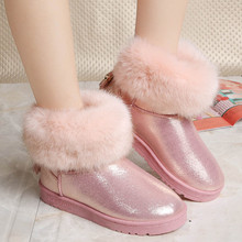 Hot Winter 2019 Women Boots Ankle Snow Boots Slip-On Fashion Casual Solid Fringe Fur Shoes Woman Flats Plus Velvet To Keep Warm men casual trend for fashion slip on suede snow warm winter ankle boots shoes