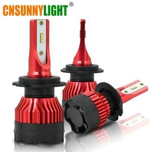 Image 1 - CNSUNNYLIGHT K5 H4 H7 H11 ZES LED H8 H9 H1 880 żarówki reflektorów samochodowych 9005 9006 H13 reflektor światła wymienić COB lampa led samochodowa 6500K