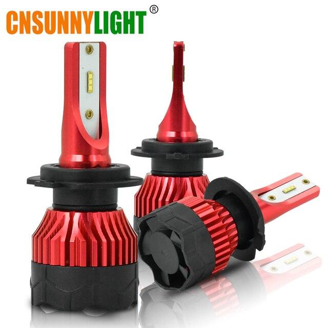 CNSUNNYLIGHT K5 H4 H7 H11 ZES LED H8 H9 H1 880 żarówki reflektorów samochodowych 9005 9006 H13 reflektor światła wymienić COB lampa led samochodowa 6500K