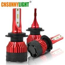 CNSUNNYLIGHT K5 H4 H7 H11 ZES LED H8 H9 H1 880 bombillas de faro delantero de coche 9005 9006 H13 faro luces reemplazar COB lámpara led de coche 6500K