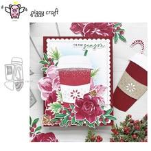 Piggy craft corte de metal morre molde de natal copo de café scrapbook papel ofício faca molde lâmina soco estênceis morrer