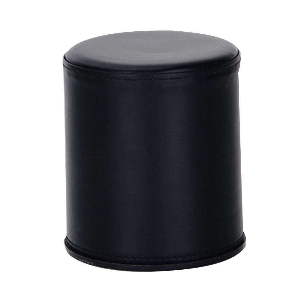1pcs Bar Leather Black Dice Cup Dice Box Without Tray Or Dice Suitable For KTV Bars Parties And Other Entertainment Events