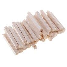 60x Natürliche Rechteck Holz Stick Holz Block Für Modell, Der Hobby Handwerk