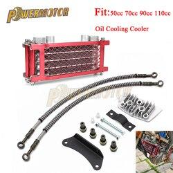 Motorrad Öl Kühlung Kühler Kühler für 50/70/90cc 110cc 125cc 140cc Horizontal Motor Chinesen Dirt Pit affe Fahrrad ATV