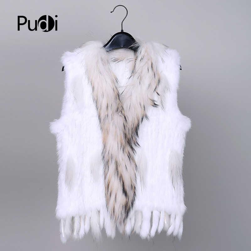새로운 28 색상 여성 정품 진짜 토끼 모피 조끼 코트 tassels 너구리 모피 칼라 자켓 양복 조끼 도매 드롭 배송 VR032