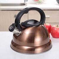Hervidor de agua silbante de 3L para estufa de Gas, tetera de acero inoxidable para café, té, con silbato de gran calibre