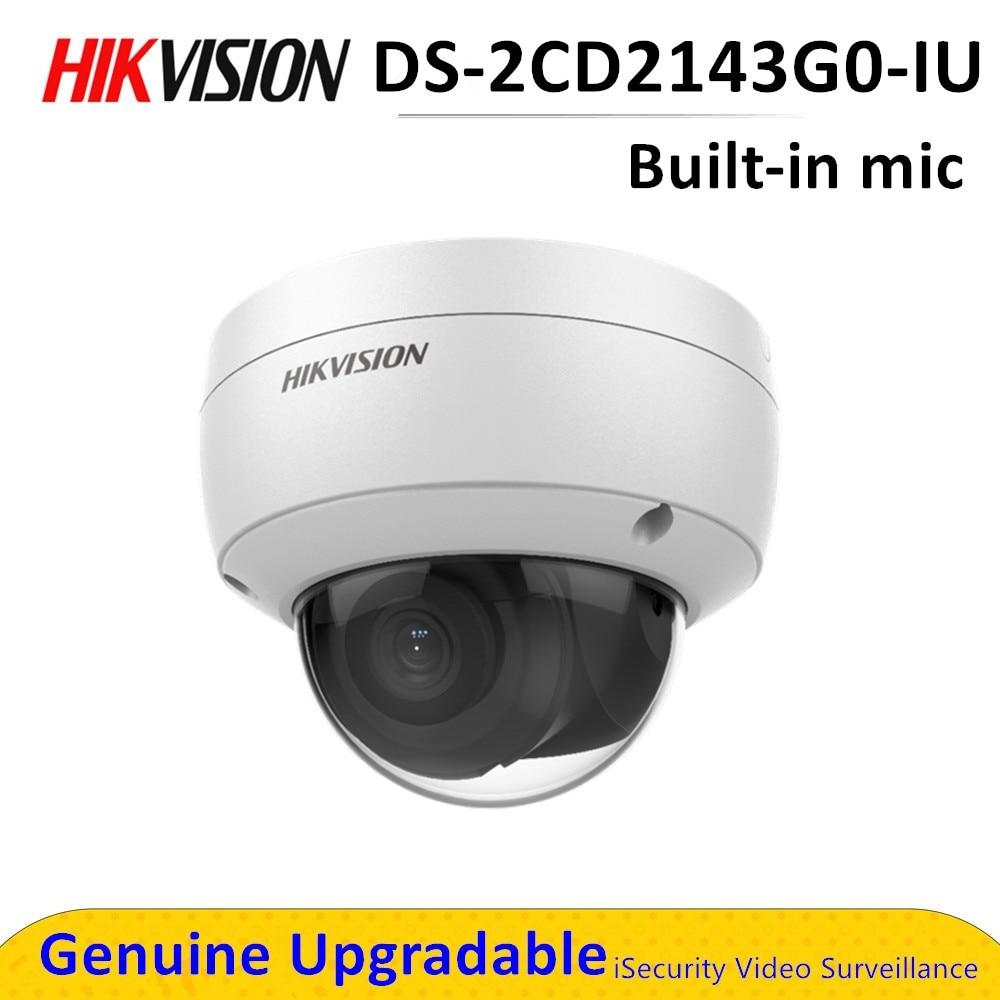 DS-2CD2143G0-IU Hik 4mp IR réseau CCTV caméra de sécurité POE avec Microphone intégré