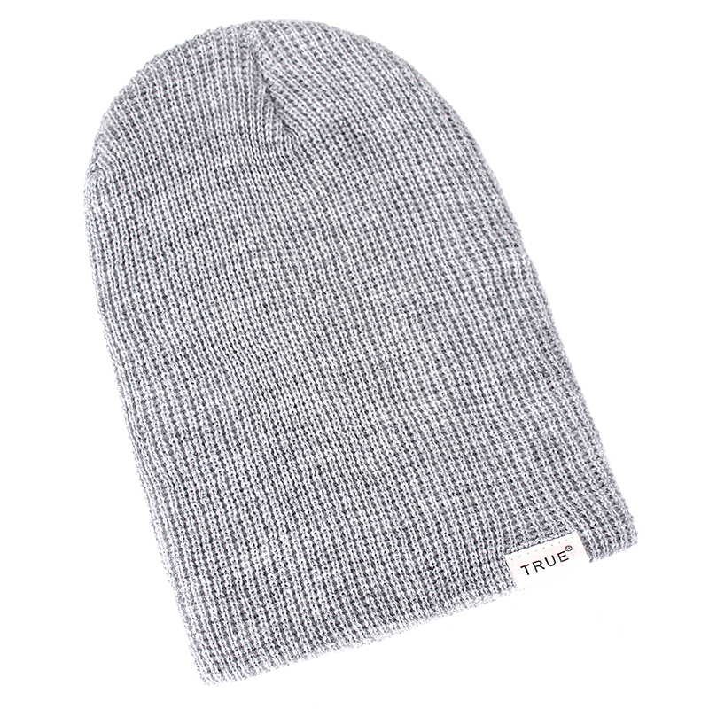 New 11 Colors Letter True Casual Beanies for Men Women Girl Boy Fashion Knitted Winter Hat Solid Hip-hop Skullies Hat Unisex Cap 3