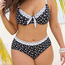 Women Bikini Set Plus Size Swimwear Push-Up Padded Swimsuit Beachwear women's swiming suit Print Striped Biquini 91224