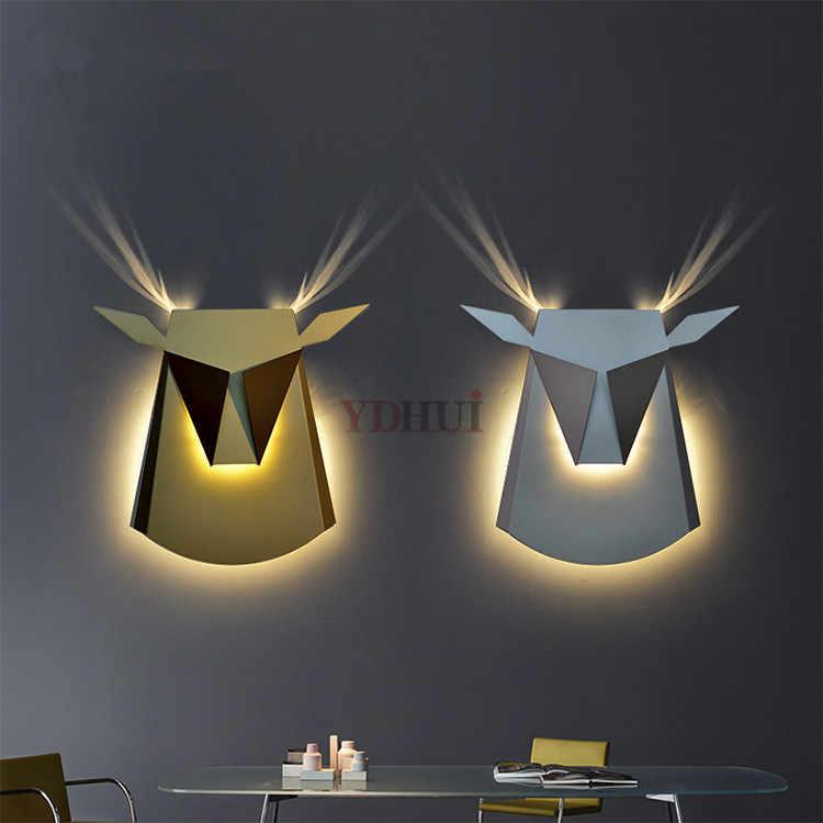 Скандинавский постмодерн светодиодный светильник настенный прикроватная лампа
