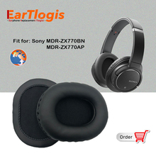 EarTlogis Replacement Ear Pads for Sony MDR ZX 770AP 770BN MDR ZX770BN MDR ZX770AP Headset Parts Earmuff Cover Cushion Cups