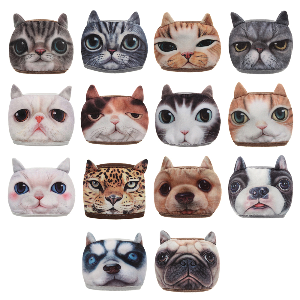 1PC Unisex Cotton Dustproof Mouth Face Masks 3D Animal Cat Muffle Reusable Facical Mouth Mask Respirator PM2.5 For Women Men