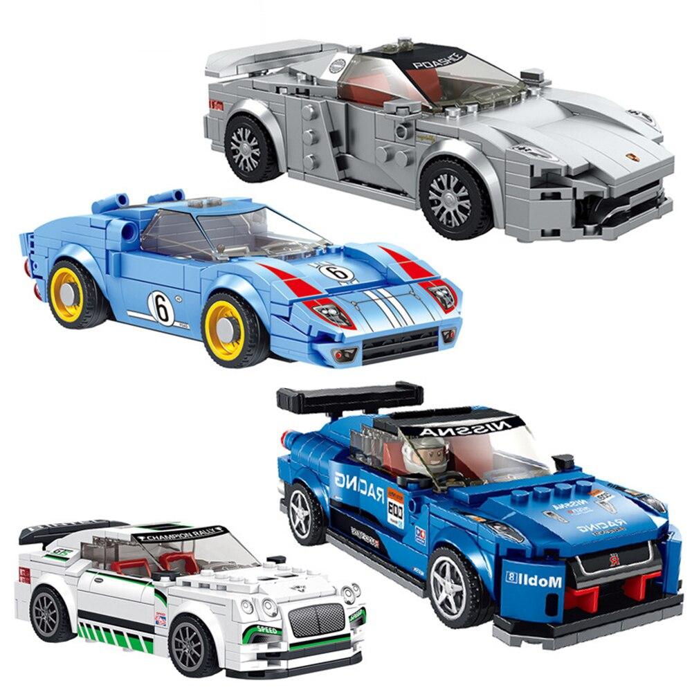 8 styles lego Racing car Building blocks Speed car Racers figures DIY models