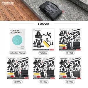 Image 3 - Vamson dla Gopro hero 8 7 6 5 zestaw akcesoriów dla SJCAM M10 dla SJ5000 case EKEN SOOCOO dla Xiaomi dla yi 4k kamera akcji VS100