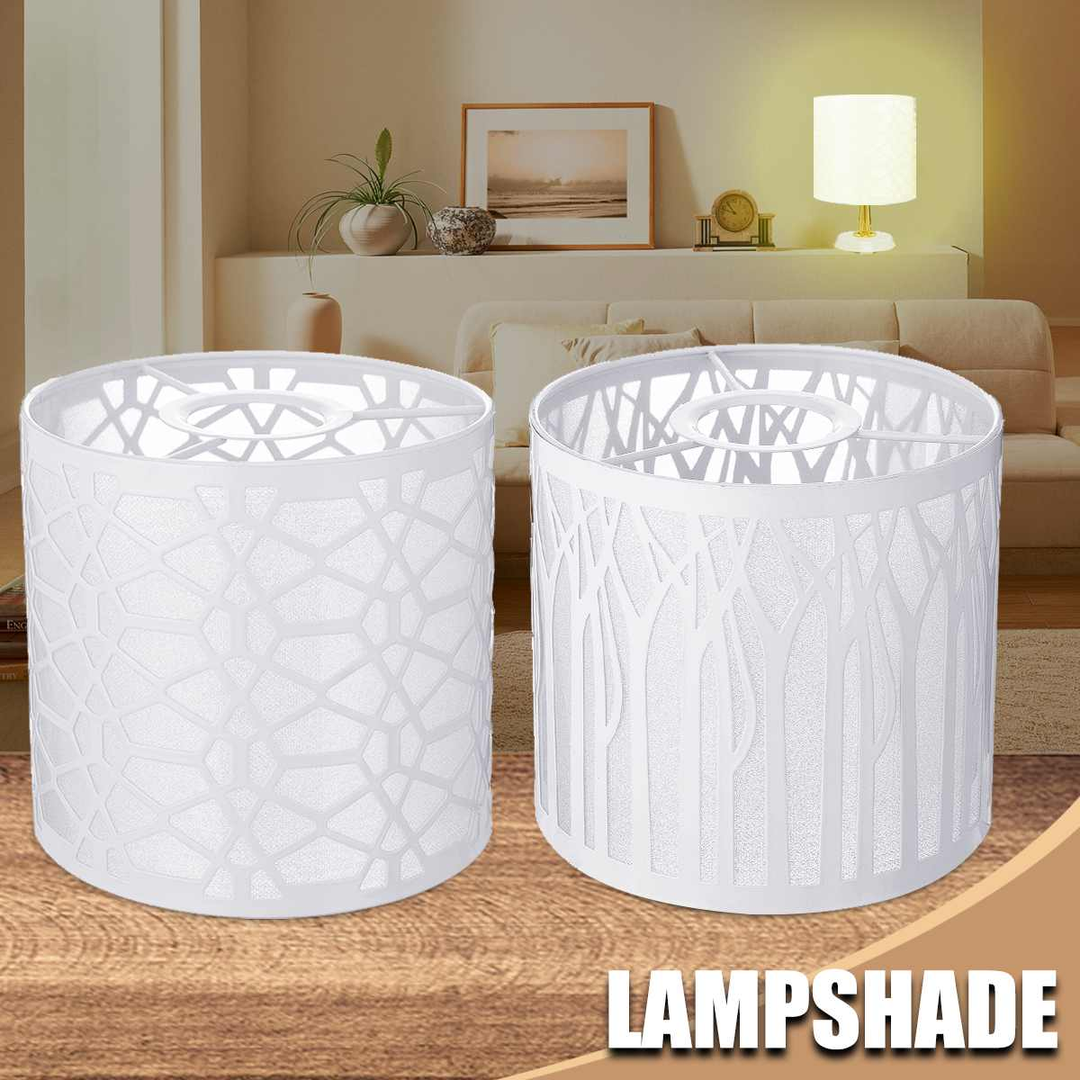Modern Metal Lampshade Forest Water Cube Design Lamp Cover Table Ceiling Pendant Light Shade Lighting Accessories Decoration