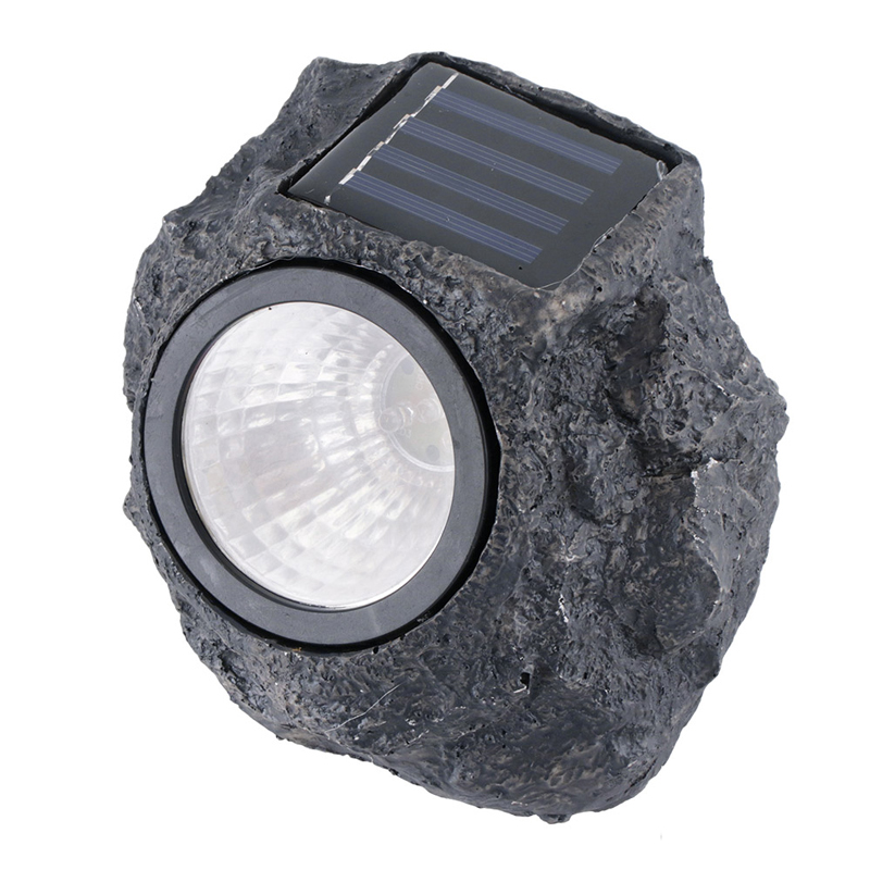 Creative Cold White LED Resin Rock Stone Solar Lamp Outdoor Waterproof Landscape Lighting Path Lawn Garden Decoration Light