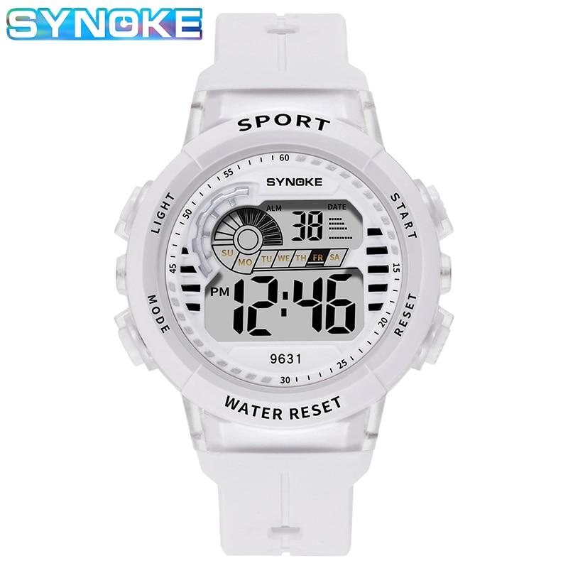 Наручные часы для детей мальчиков SYNOKE 9631 дети часы студенты дети цифровые 50 м водонепроницаемый силикон мальчики девочки подарок будильник часы