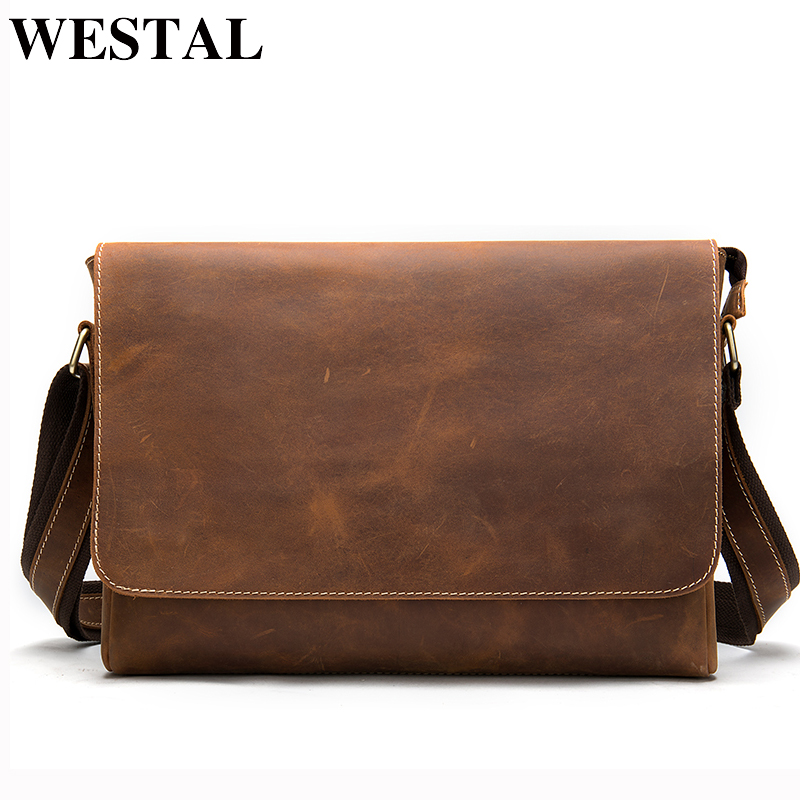 Men Leather Briefcase Laptop Casual Lawyer Shoulder Office Tote Messenger Bag