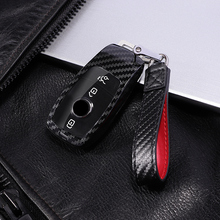 New PC Carbon Fiber Fob Full protective Cover Car Key Case For Mercedes Benz AMG 2017 E Class W213 for gifts