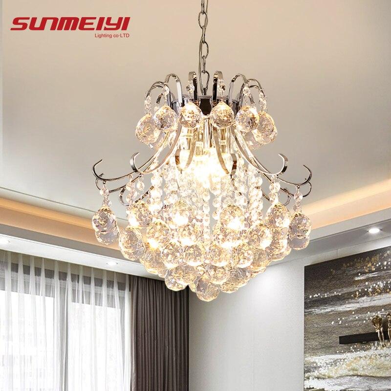 2019 Luxus Kristall Kronleuchter Wohnzimmer Lampe lüster de cristal innen Lichter Kristall Anhänger Für Kronleuchter Kostenloser versand