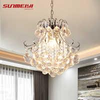 2019 lustre de cristal luxo sala estar lâmpada lustres de cristal interior luzes pingentes cristal para lustres frete grátis