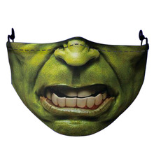 Hot Hero-Hulk-Thanos-Clown Zombie Cosplay Halloween Christmas Mouth Masks Adult Dust-Proof Street Sports Breathable Mask