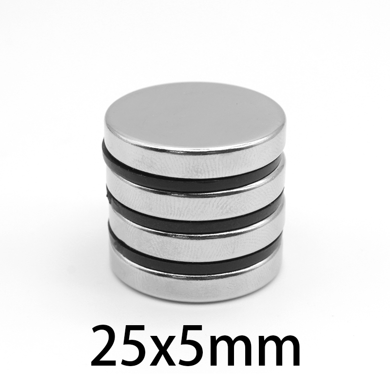 3-50 PCS 25x5 mm Permanent Magnetic 25mmx5mm Bulk Steel Round Magnets 25mm*5mm N35 Neodymium Disc Magnet 25*5 mm circular