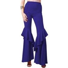 High Waist Wide Leg Pants for Women Ladies Elegant Ruffles Leggings Women Palazzo Flare Bell Bottom Pants Harajuku Women Pants