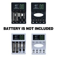 цены 1pc 4 Slots Battery Chargers Rechargeable AA/AAA Ni-MH/Ni-Cd Batteries Charger Fast Charging Charger for Batteries