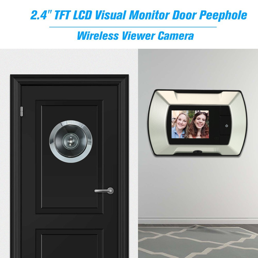 Door Peephole Wireless Viewer Camera Electric Peephole Doorbell Monitor LCD Visual Monitor Door Camera Video