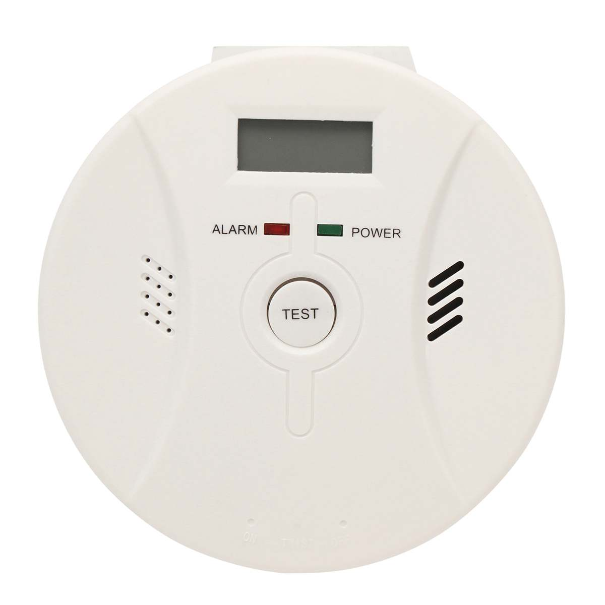 2 in 1 Co Carbon Monoxide Detector LED Digital Gas Smoke Alarm Home Security  Warning Sensor