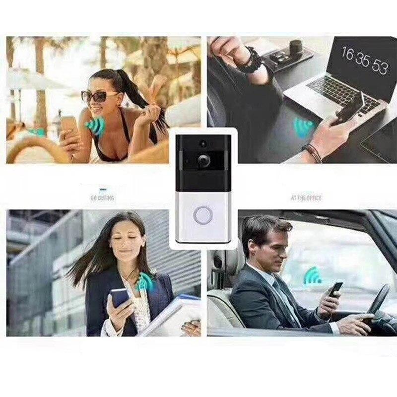 Купить с кэшбэком Low Power Consumption Wireless WIFI Doorbell Work With Alexa Video Door Bell Phone Door Camera Remotely Monitor Viewer Security