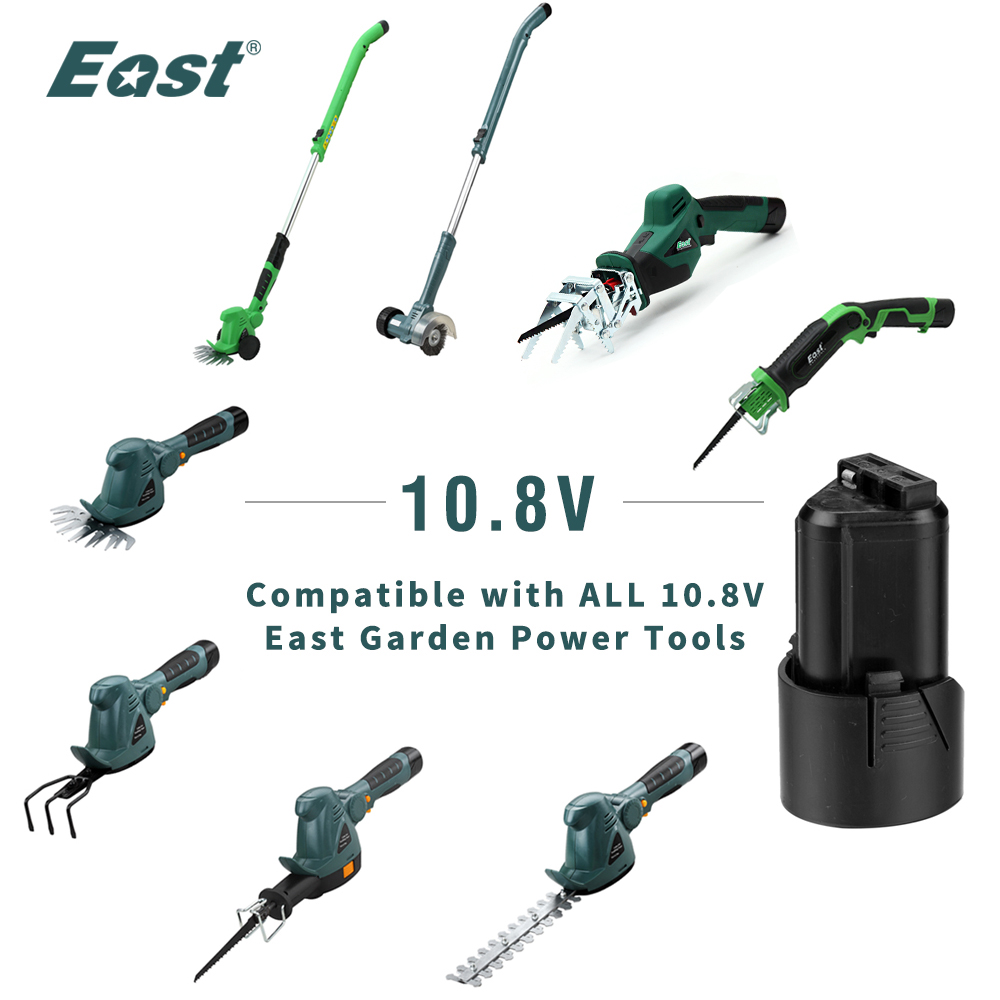 Tools : East Rechargeable battery for 10 8v 1300mAh cordless lithium garden saw power tools for ET1007 ET1302 ET1405 ET1303 ET1510